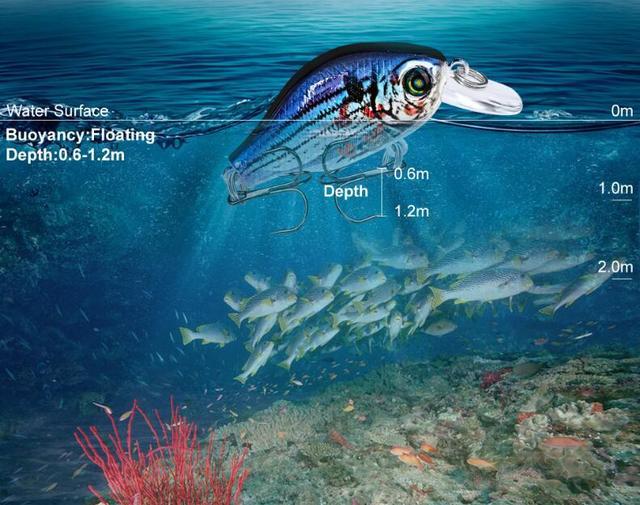 1pcs/lot 52mm 8.5g Swim Fish Fishing Lure Artificial Hard Crank Bait topwater Wobbler Mini Fishing Crankbait lure fishing tackle