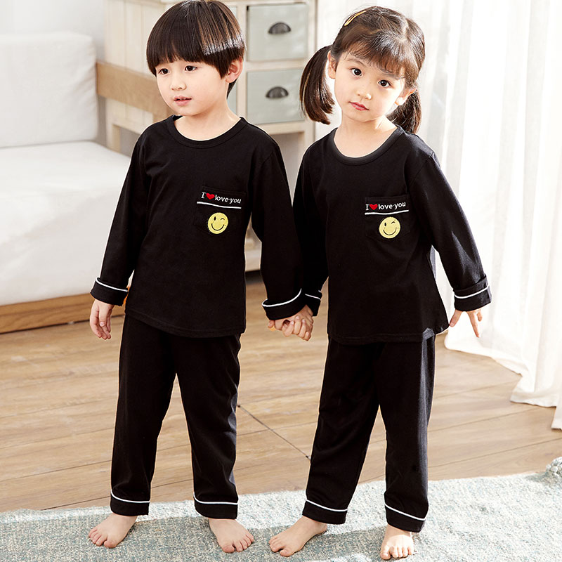 2019 Spring New Children 39 s Pajamas Suit Girls Long sleeved boys Trousers Baby Cotton Kids Sleepwear Children pijamas set in Pajama Sets from Mother amp Kids