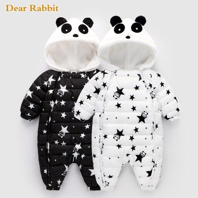 1fd013643 Primavera Panda Do Inverno Do Bebê Macacão Macacão Bodysuit Roupas Macacão  Menina Recém-nascidos Menino