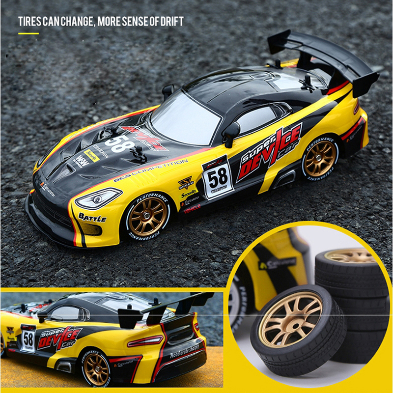 Rc Car | RC Car For GTR/Dodge Viper 4WD Drift Racing Championship 2.4G Off Road Rockster Remote Control Vehicle Electronic Hobby Toys