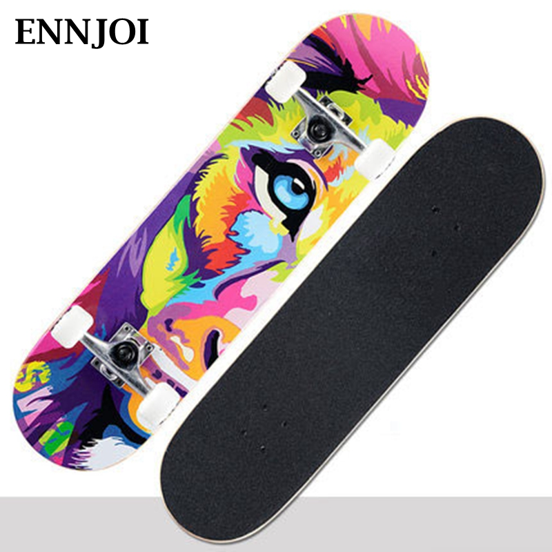 Printing Street Long Skate Board Complete Retro Graffiti Style Skateboard Maple Wood Deck Cruiser Long Board Skateboards wooden 22 27 skateboards mini longboard complete peny skate board canadian maple skateboard deck adult children 4 wheel skates