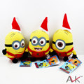 3PCS/Pack Cute Despicable Me2 Santa Claus Minions Minion 15cm PP Cotton Plush Stuffed Toys