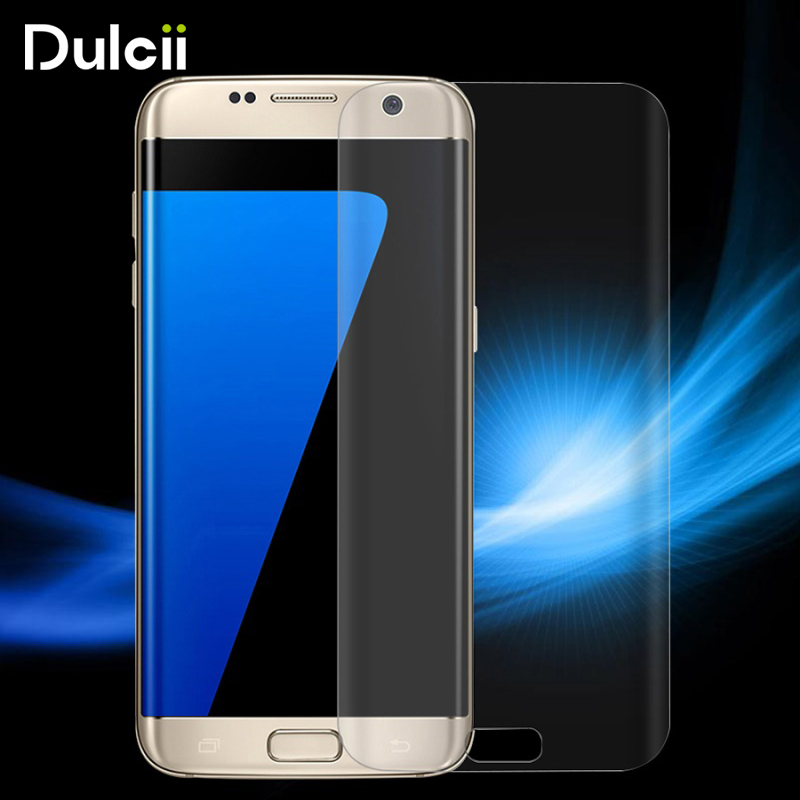 dulcii For Galaxy S7edge G935 Tempered Glass 0.2mm Anti-explosion Curved Full Coverage Screen Film for Samsung Galaxy S 7 Edge