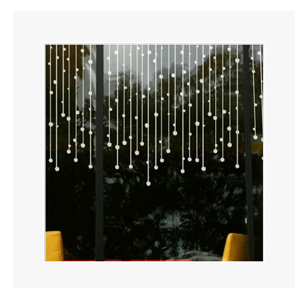 Bead curtain wall stickers glass decoration sticker home ...