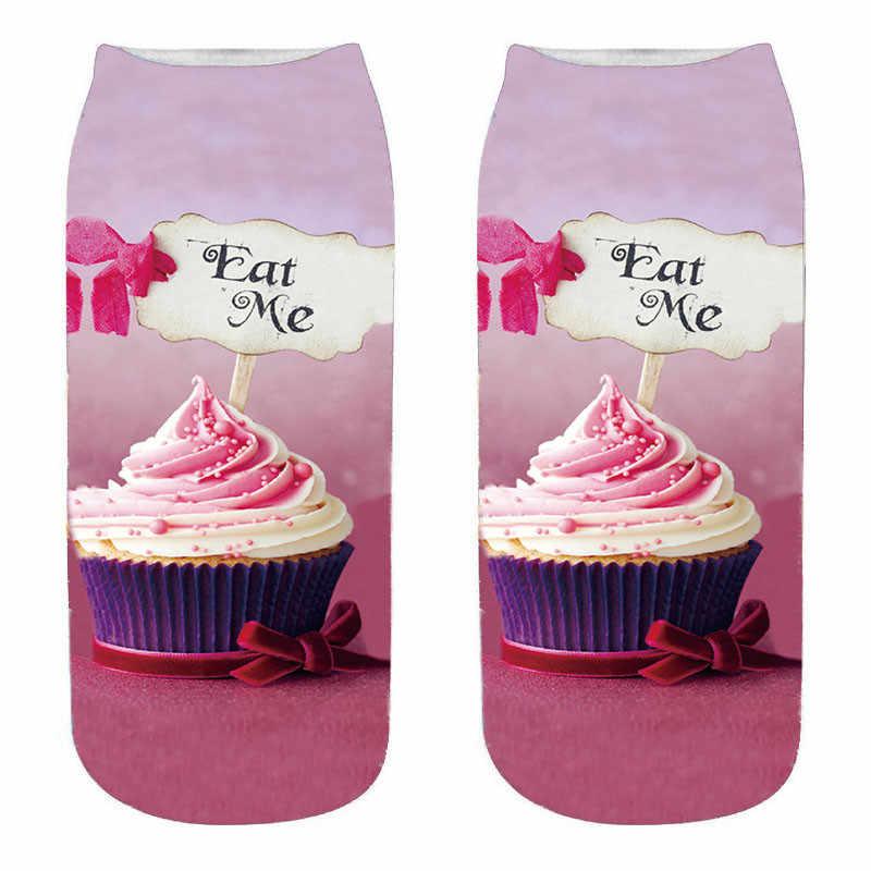 SexeMara yeni moda çikolata meyve dondurma Burger baskılı çoraplar Unisex kadın erkek yenilik tarzı baskı çocuk çorap 5QRVB170