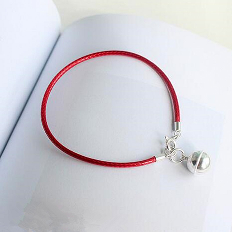 New S925 Sterling Silver Bell Red String Rope Bracelets Lucky Beads Red Thread Bracelets & Bangles For Women Jewelry Gifts buy mens string bracelets