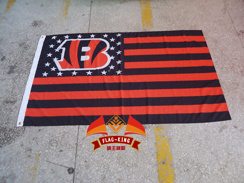 Cincinnati Bengals with USA national flag background,Rugby club, football sport Helmet polyster 90*150 CM banner,fan
