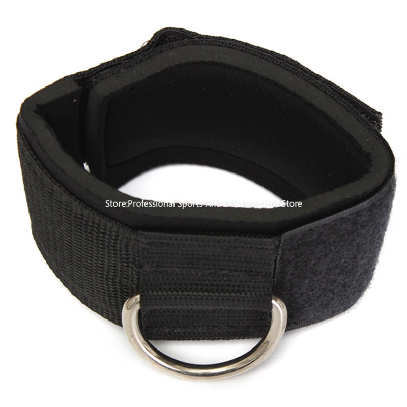Multi D-ring Ankle Anchor Strap Belt Gym Cable Attachment Thigh Leg Pulley Strap Lifting Fitness Training Equipment