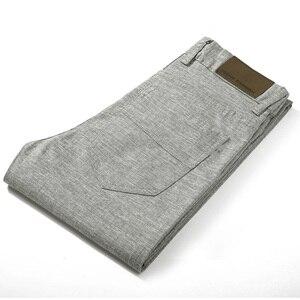 Image 4 - HCXY Brand 2019 Summer high quality Mens Linen Pants man Casual thin trousers Men pantalones male pants Plus size 38