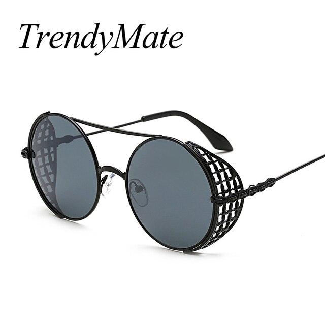 eee0c1e990 Nuevas gafas de sol Retro para hombre, gafas de sol de rejilla Steampunk,  para