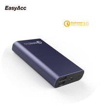 Easyacc QC3.0 18650 10000mAh Portable External Battery Pack Backup Charger Dual USB Powerbank for Phones and Tablets