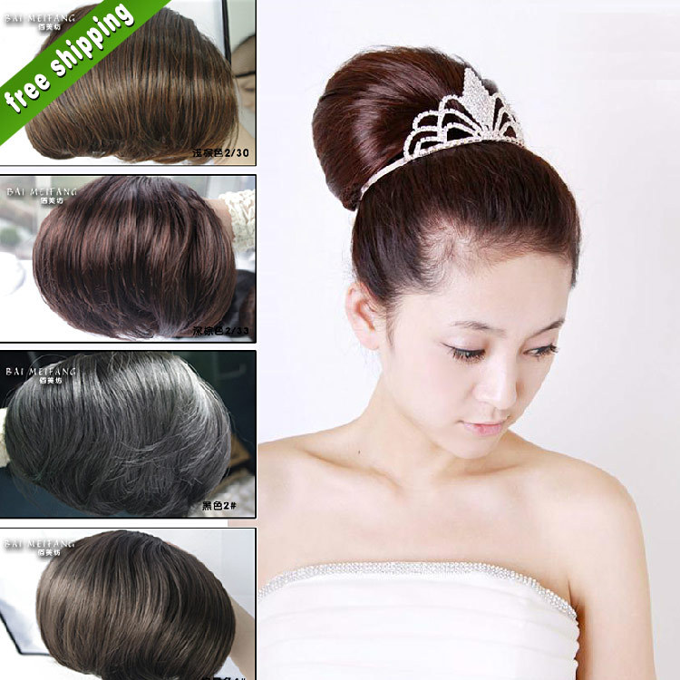 4 Colors 77G Bun Chignons Women's Wedding