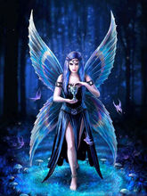 Фотография DIY 5d diamond painting cross stitch girl puzzle picture embroidery diamond mosaic butterfly fairy picture painting rhinestones