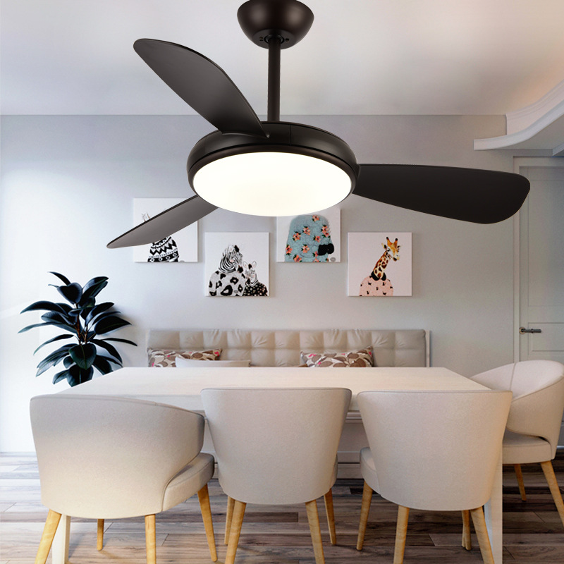 US $230.31 34% OFF|Ceiling Fan Lights Remote Control Kids Children Office  Dining Room Bedroom Living Fan Lamps Lightings Luminaria Pendente Home-in  ...