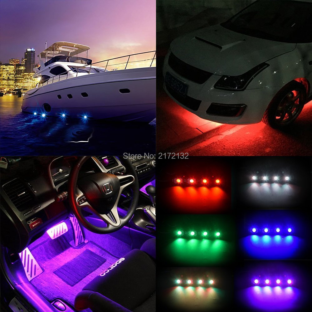 4pcs Bluetooth Waterproof 9w Boat Drain Plug Light 6 Led Jeep Wrangler Underwater Lamp Rock In Car Assembly From Automobiles Motorcycles