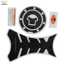 Aukey Carbon Motorcycle Tank Protector Sticker + Gas Cap For Honda(China)