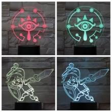 The Legend of Zelda Table Lamp Bedroom USB Touch Sensor RGB Child Kids Gift Cartoon Toys Game Breath of the Wild LED Night Light недорого