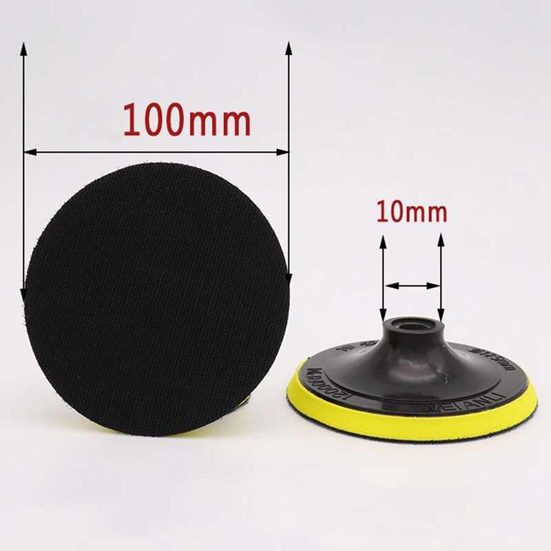 1 pc ליטוש דביק דיסק ליטוש נייר זכוכית גיליון דבק דיסק צ 'אק זווית מטחנות דביק צלחת עבור רכב