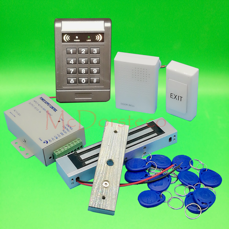 DIY Complete 125khz Rfid Keypad Door Access control system 350lbs 180kg Electric Magentic Lock Door Control System diysecur magnetic lock door lock 125khz rfid password keypad access control system security kit for home office