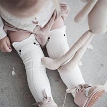 BalleenShiny Cotton Baby font b Socks b font Animal Printed Knee High font b Kids b