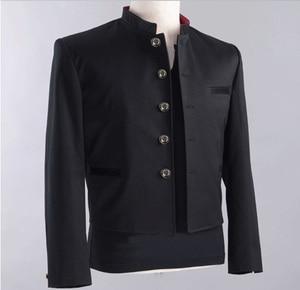 Image 4 - Бесплатная доставка, новинка, японская школьная форма для студентов, мужской Тонкий Блейзер, китайская туника, повседневный пиджак