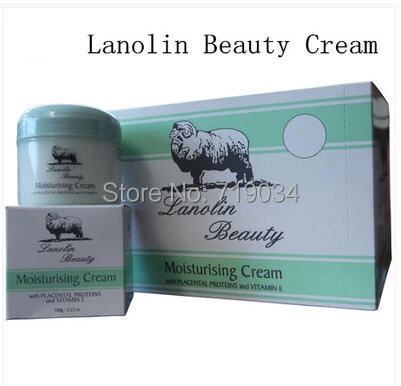Ovejas lanolina aceite beaut e placenta hidratante antiarrugas hidratante 100g crema hermosa