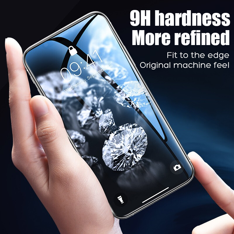 Image 2 - 20D Protective Tempered Glass On The For iPhone 6 6s 7 8 Plus X Glass Screen Protector Film For iPhone X XR Xs Max Glass Cover-in Phone Screen Protectors from Cellphones & Telecommunications
