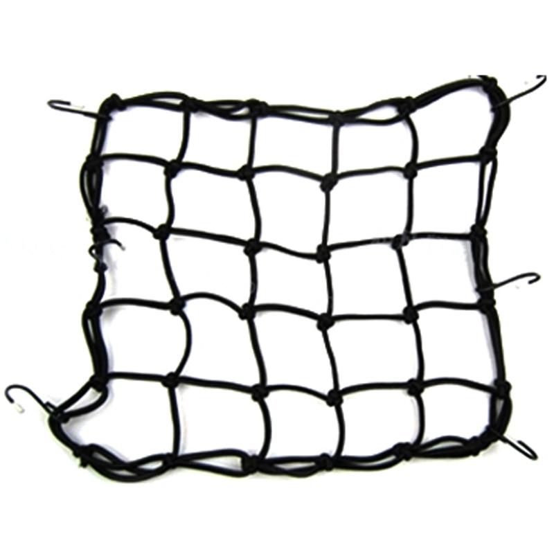 Motorcycle Helmet Luggage Cargo Bungee Net With 6 Hooks Helmet Mesh String Bag Hold Down