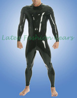 100% handmade top quality latex catsuit rubber bodysuit gummi 0.4mm jumpsuit w back crotch zipper custom made hot sale
