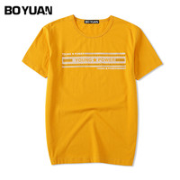 BOYUAN Quality Men Clothing 2018 Summer New T Shirt Men T Shirt Round Collar Short Sleeve