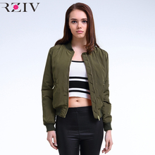 2016 Winter Flight army green bomber jacket women jacket and women's coat clothes bomber ladies