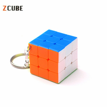 Zcube 3cm Keychain Magic Cubes 3x3x3 Speed Puzzle Cubes Multicolor Cube Educational Toys for Children