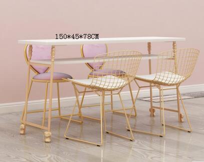 Купить с кэшбэком Double manicure table single person double person triple manicure table manicure table gold manicure salon chair .