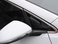 Aço inoxidável chrome janela quadro guarnição conjunto para volkswagen para vw golf mk7