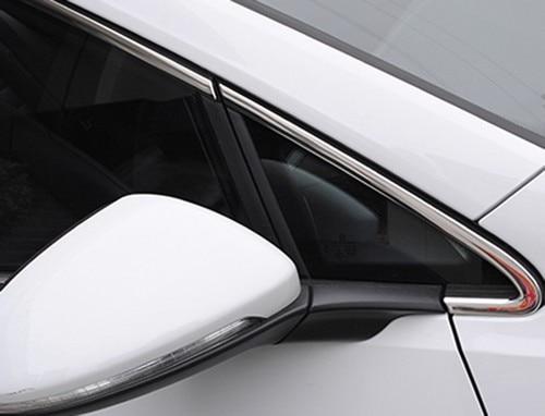 Stainless Steel Chrome Window Frame Trim Set For Volkswagen For VW Golf MK7 chrome vanadium steel ratchet combination spanner wrench 9mm