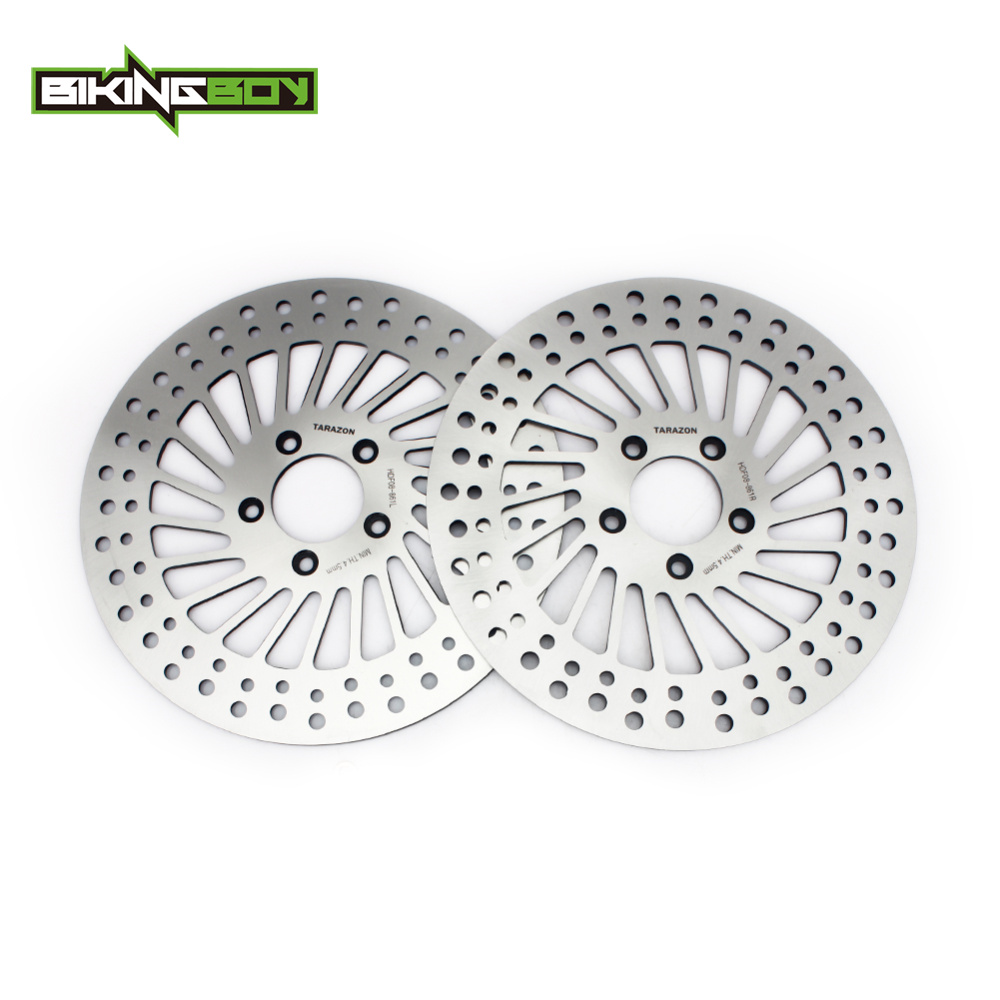 BIKINGBOY Front Brake Disks Discs Rotors for Harley FLHR Road King FLHX Street Glide FLTR FLHR