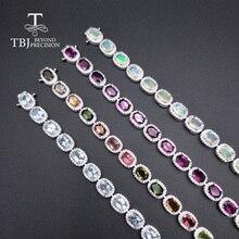 TBJ,natural aquamarine tourmaline rhodolite opal.gemstone noble bracelet  925 sterling silver jewelry for madam engagement gift платье madam t madam t ma422ewekqc2