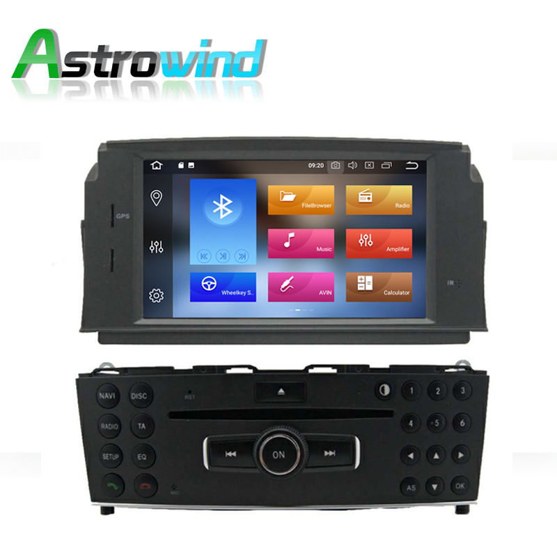 8 Core,4G RAM,32G ROM,Android 9.0 Car DVD Player <font><b>GPS</b></font> Navigation System <font><b>Radio</b></font> Stereo Media for Mercedes-Benz C200 <font><b>W204</b></font> image
