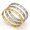 Delicate Hollow Roman Numeral Bracelets & Bangles Titanium Steel Bangle Fine Jewelry For Women Vacuum Plating Bangle Top Quality