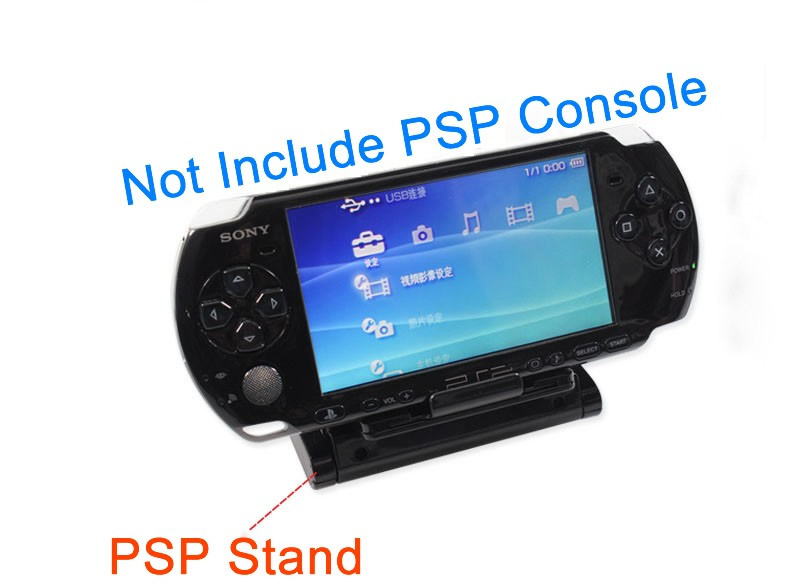Psp 1000 Psp 2000 : Handheld game stand holder mount for psp go