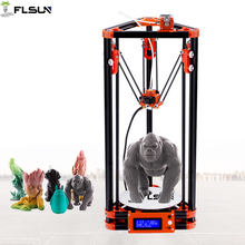 NEW FLSUN 3d printer Pulley Kossel 3d Printer With One Roll Filament Auto-leveling Heat bed SD Card Fast Free Shipping