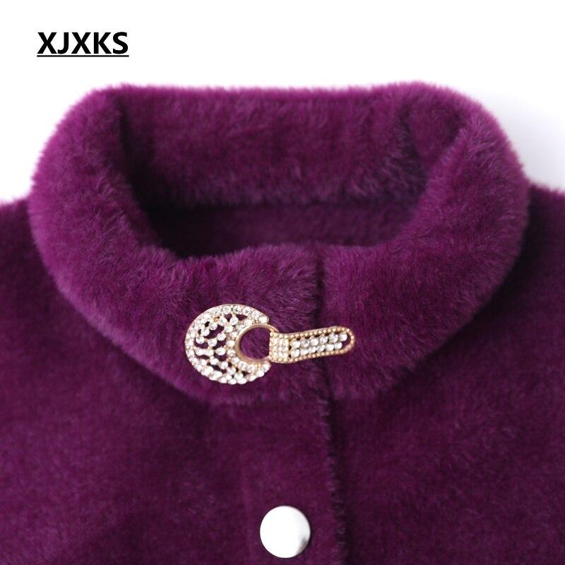 Cardigan Dell'annata Qualità Dark Lana Donne In Purple Xjxks Delle cachi Autunno Alta Cappotto E Cappotti fucsia Inverno Maglione Di Lungo Molle tTnqpva