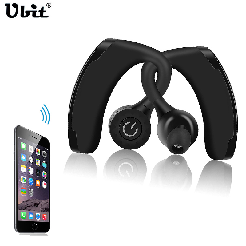 Ubit V11 True Wireless Earphone Headset TWS Dual Headphone Voice Control Handsfree Business Headphones Noise Cancelling Earbuds