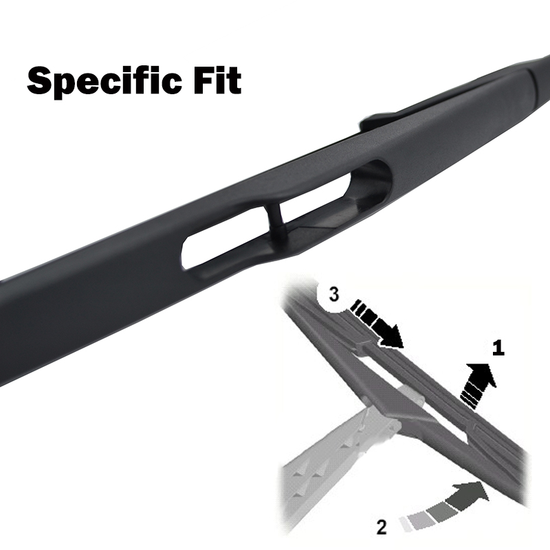 """Image 5 - Ericks Wiper 10"""" Rear Wiper Blade & Arm Set Kit For Renault Scenic 2 / Grand Scenic MK 2 Windshield Windscreen 2003 2004   2009-in Windscreen Wipers from Automobiles & Motorcycles"""