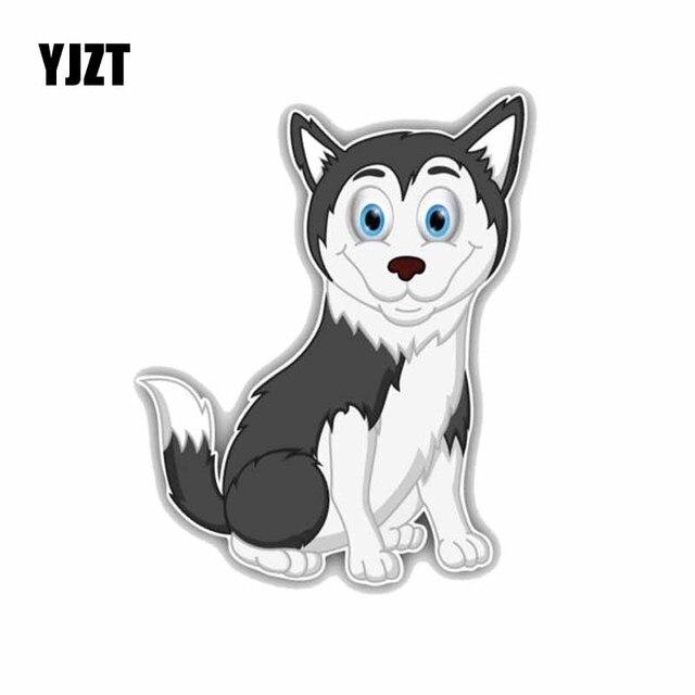 Yjzt 11 8 14cm Funny Husky Dog Cartoon Fashion Decoration Car