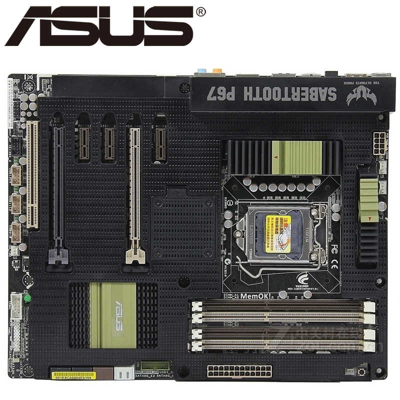 Asus SaberTooth P67 Desktop Motherboard P67 Socket LGA 1155 i3 i5 i7 DDR3 32G ATX UEFI BIOS Original Used Mainboard On Sale