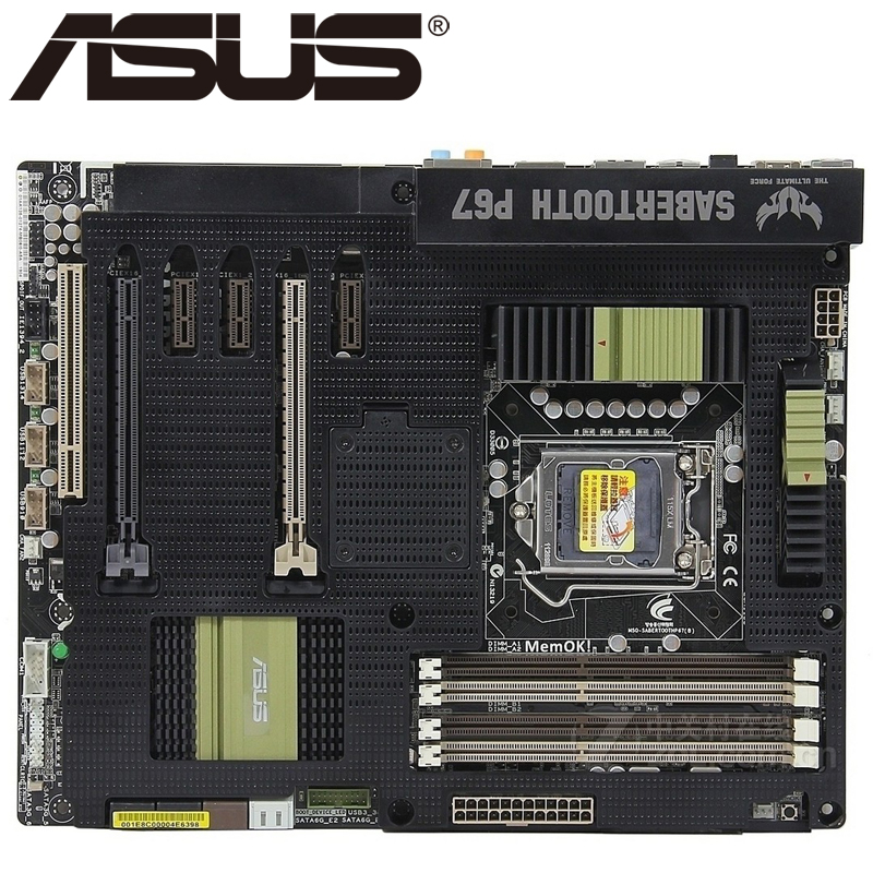 2019 Neuestes Design Asus Sabertooth P67 Desktop Motherboard P67 Sockel Lga 1155 I3 I5 I7 Ddr3 32g Atx Uefi Bios Original Verwendet Mainboard Auf Verkauf