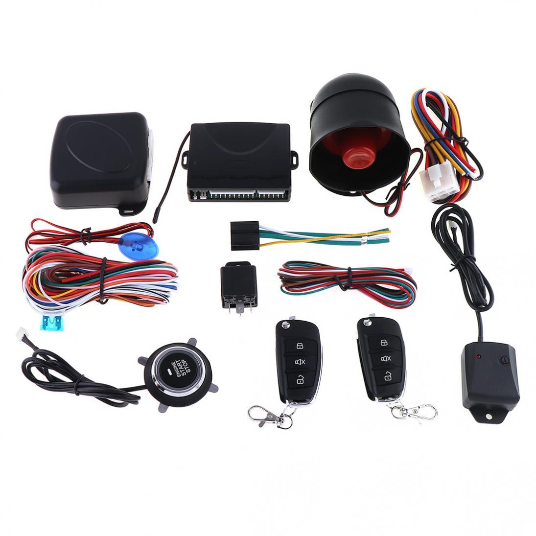 Système d'alarme antivol de voiture universel système de sécurité système de sécurité sirène sans clé avec 2 télécommande cambrioleur
