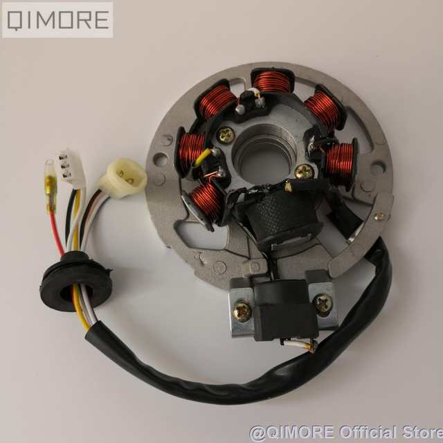 US $6.5  7 coil 6 wire AC Magneto Stator for Scooter Moped ATV Minarelli Wiring Store on