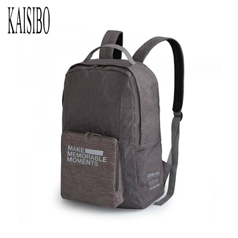 KAISIBO Men Women Backpack Simple Portable Foldable Travel Shoulder Bags Traveling Luggage Bag Men's Backpacks Mochilas